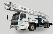 New design and more powerful, AKL-350B truck mounted drilling rig